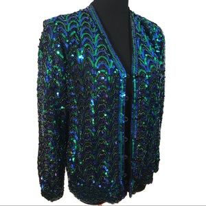 Gorgeous sequin cardigan sweater jacket
